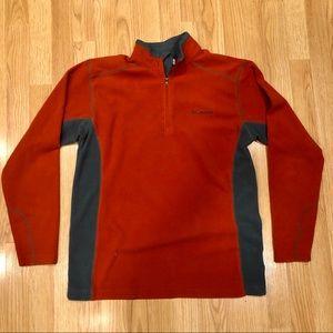 Columbia Men Medium Orange Thermal Fleece Pullover